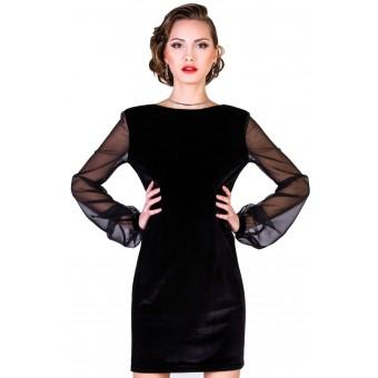 Платье с прозрачным рукавами фото