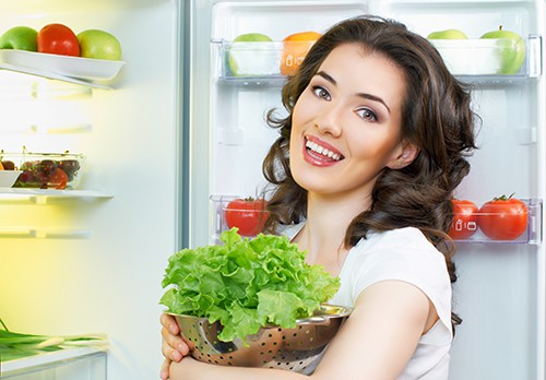 продукты, холодильник