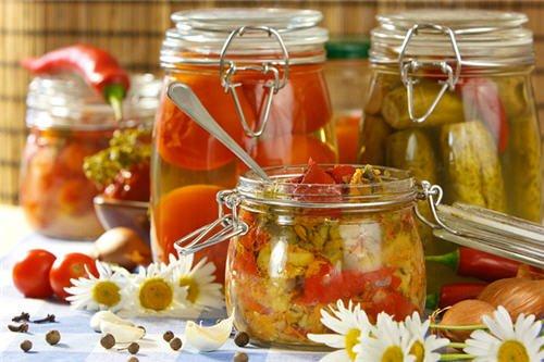консервация, овощи и фрукты