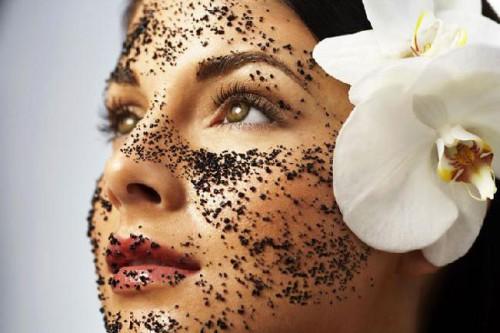кофейная маска, кожа, лицо
