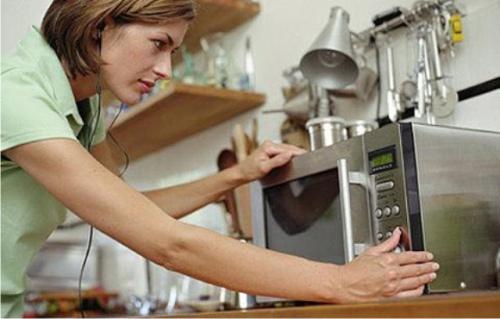 микроволновая печь, продукты