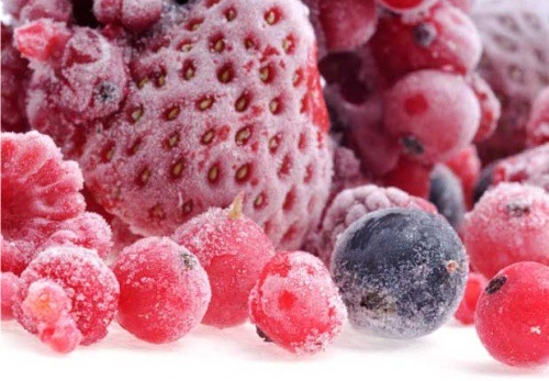 замороженные овощи, фрукты