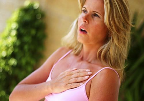 боль в груди, одышка