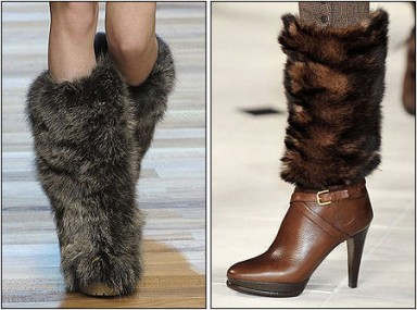 мода, мех, обувь