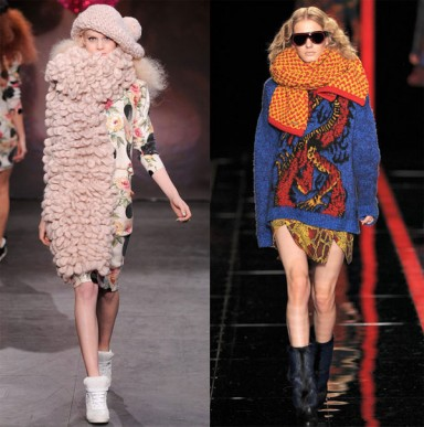 шарфы, зима 2013-2014