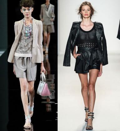 модные шорты, мода весна лето 2014, шорты для офиса