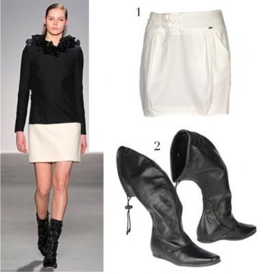 стиль, сапоги, юбка сапоги
