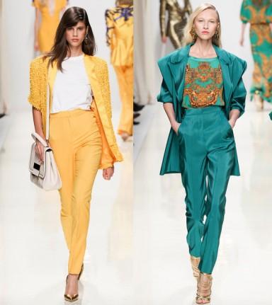 модные принты, оттенки, весна лето 2014, мода 2014