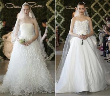 свадебные платья, платья 2014, тренд сезона, бюстье