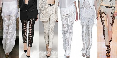мода 2014, брюки, одежда, кружева, фасон