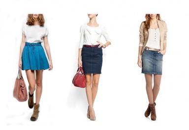 юбки, мода, деним, джинсовая юбка