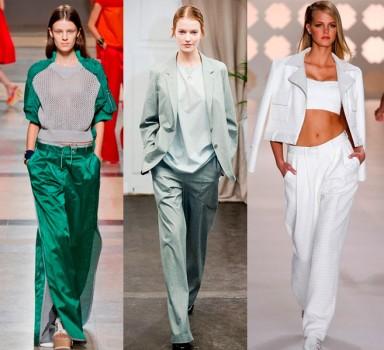 мода, широкие штаны