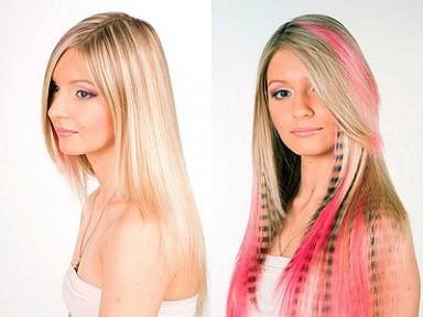 наращивание волос, прическа