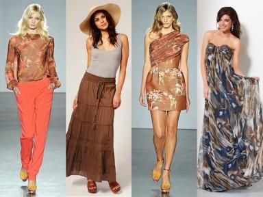 мода, брюки, платья