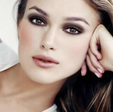 макияж, карие глаза