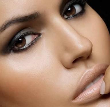 макияж, глаза, карий