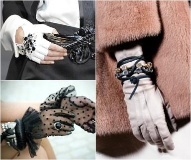 перчатки, мода 2015, зима