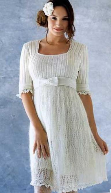 тренд, вязаные платья