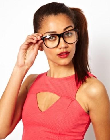 модные очки, прозрачная линза