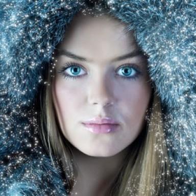 макияж, зима