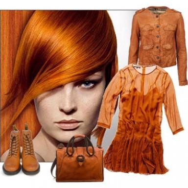 одежда для рыжеволосых