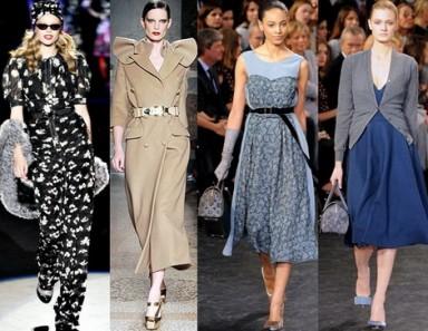 мода, стиль 40-х