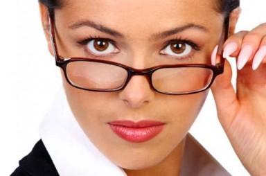 очки, макияж