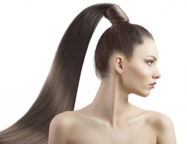 волосы, шиньон