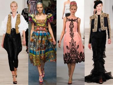 модерн, стиль, одежда