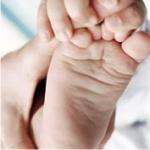 массаж, ребенка, ногу, пальцы, мышцы, дети, мать, голень, погладить